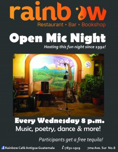 Open Mic Night @ Rainbow Cafe